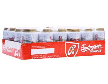 Kết quả hình ảnh cho Bia Budweiser Budvar Original - lon thấp 330 ml