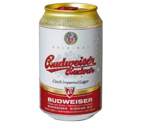 Kết quả hình ảnh cho Bia Budweiser Budvar Original - Lon thấp 330ml